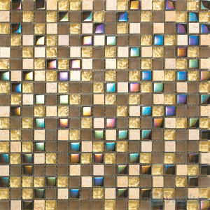 15X15mm Rough Frosted Wall Crystal Glass Mosaic