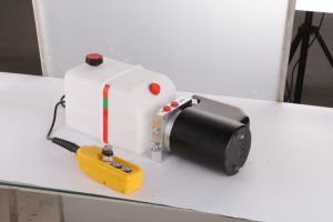 High Quality Hydraulic Double Acting 12V DC Dump Trailer Pump pictures & photos