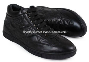 Leather New Style Fashion Man′s Casual Shoes (HLC61)