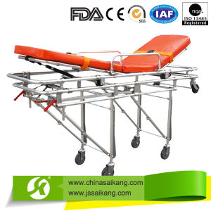Ambulance Emergency Rescue Folding Stretcher Trolley pictures & photos