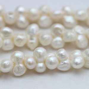 9-10mm Center Drilled Hole Natural Baroque Pearl Necklace Strands (E190032) pictures & photos