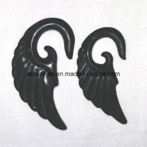 Semi Precious Stone Black Obsidian Flower Earring pictures & photos