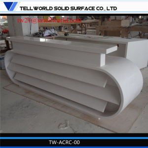 Contemporary White New Design Big Office Furniture Marble Reception Desks pictures & photos