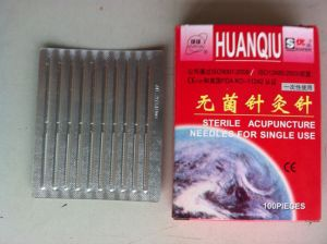 0.25X40mm Acupuncture Needle Without Tube, Copper Handle - Huanqiu Brand pictures & photos
