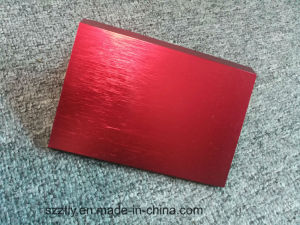 6000 Alloy Brushed Natural Anodizing Aluminum Extruded Profile pictures & photos