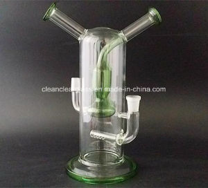 Wholesale Thick Glass Water Pipes with Two Mouths 14.5mm Male&Female pictures & photos