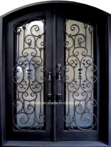 Stumming Hand-Forge Wrought Iron Entry Door with Low Price pictures & photos