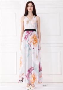 Woman Sleeveless Long Fashion Dress (C65048-3)