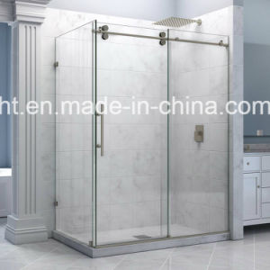 Sliding Glass Shower Enclosure with Fixed Panel pictures & photos