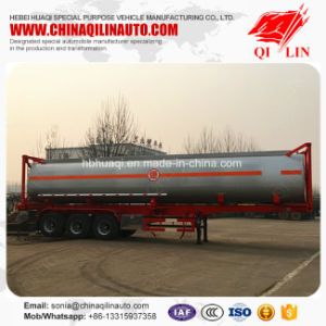Qilin 3 Compartments 40cbm Container Tanker Truck Trailer with CCC ISO Certificate pictures & photos