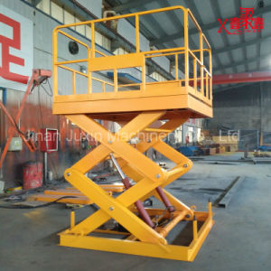 Stationary Scissor Lift Platform Scissor Lift Hydraulic Drive Motor pictures & photos