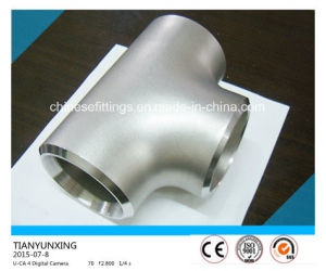 Seamless Stainless Steel Pipe Fittings Ss304 Ss316 Straignt Tee pictures & photos