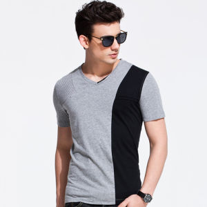 Newest Stitching Color Fashion Trend Cool Men T-Shirt pictures & photos