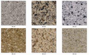 Laminated Edge Kitchen Island White Marble Quartz Stone pictures & photos