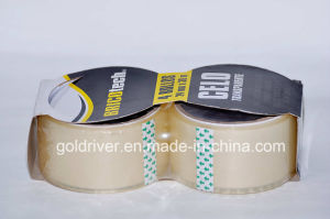 2 Pack Transparent Packaging Tape (STK-012)