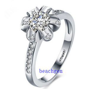 Hot Sell Jewelry- Cubic Zirconia Brass Rings (R0840)