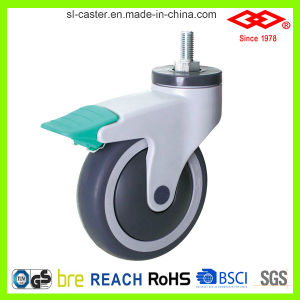 Medical Caster with Two Lock Position (G503-34E100X32CS2) pictures & photos