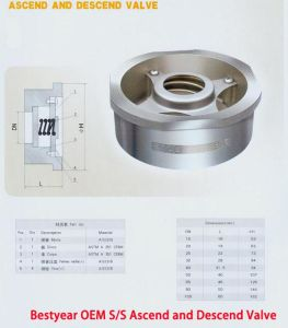 Bestyear OEM S/S Ascend and Descend Valve pictures & photos