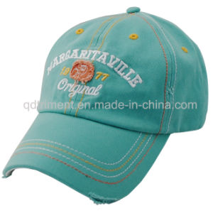 Distressed Washed Thicker Stitches Embroidery Golf Baseball Cap (TMB0375) pictures & photos