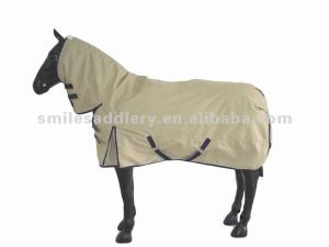 Winter Warm Waterproof Khaki 1200d Ripstop Combo Horse Rug (SMD002) pictures & photos