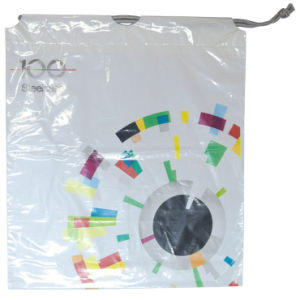 Printed Double Layer Drawstring Bags for Packing (FLS-8238) pictures & photos
