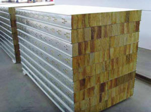 Different Color Decoration Material Glass/Rock Wool Sandwich Panel pictures & photos