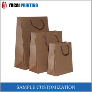 High Quality Brown Kraft Paper Shopping Bag pictures & photos