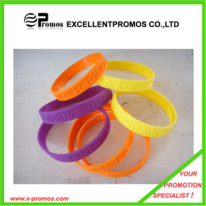 Promontional Customized Silicone Rubber Wristband (EP-S7103) pictures & photos