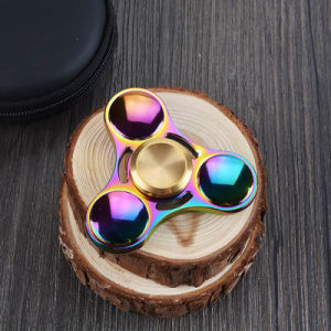 Sunglasses Style Tri Fidget Spinner Metal Hand Spinner EDC Gyro Stress Toys Torqbar Brass Gyroscope Finger Spinner pictures & photos