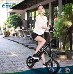 Lithium Battery Electric Bicycle Brushless Motor 350W Watt Two Wheel Mini Pocket Folding Electric Bike pictures & photos