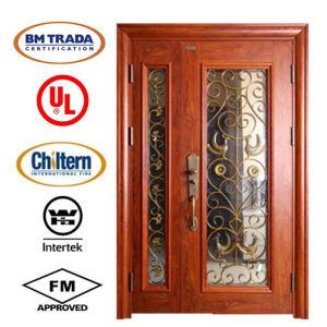 Double Steel Security Entrance Door for Villa Project/Garden Door/ Steel Glass Door/Villa Door pictures & photos