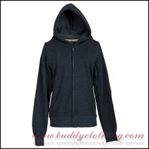 Full-Zip Hoodie Shirt (Made of 100%Cotton, with Long Sleeves) (BC-01)