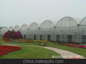 PC Sheet Agriculture Multi Span Greenhouse for Cucumber with Heating System pictures & photos