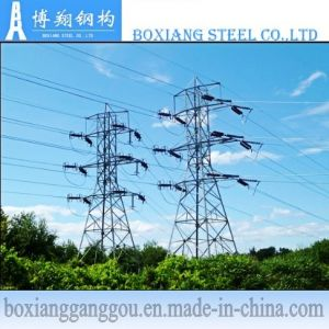 132kv Double Circuit Galvanization Transmission Angle Tower