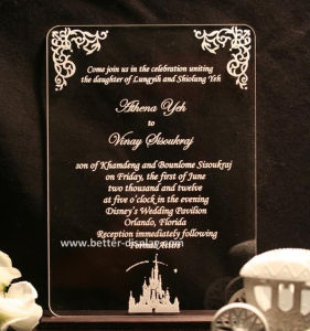 Custom Acrylic Wedding Invitation Card Model Doc (BTR-U3005) pictures & photos