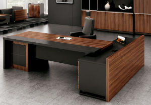 Guangzhou Modern MFC High Quality Hot Selling Executive Office Desk (FOH-HMA281) pictures & photos