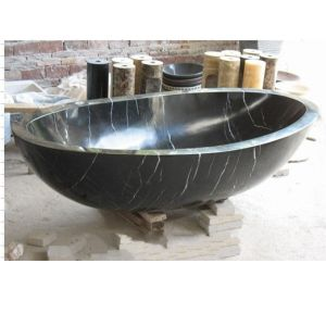 Freestanding Stone Granite Marble Bathtub Black Tub for Bath pictures & photos