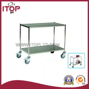 Two-Layer Round Tube Stainless Steel Dining Trolley (A1032, A1033, A1034) pictures & photos
