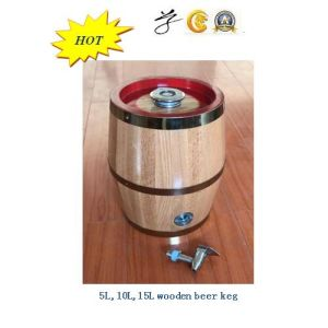 Wooden Beer Barrel with SUS Inner Tank pictures & photos