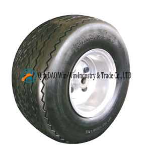 Non-Pneumatic Polyurethane Foam Wheel with Spoke Rim (16*6.50-8) pictures & photos