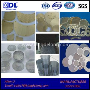 Irregular Woven Wire Mesh Filter/ Round Filter Mesh pictures & photos