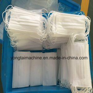 Automatic Ultrasonic Nonwoven Outside Earloop Face Mask Making Machine pictures & photos