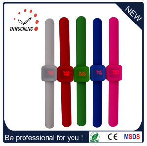 Multi-Color Sports Digital Slap Silicone Watch (DC-092) pictures & photos