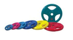 Tri-Grip Colrful Rubber Coated Weight Plate pictures & photos