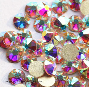 14 Facet Copy Swaro Non Hot Fix Glass Rhinestone (FB-SS20 crystal ab) pictures & photos