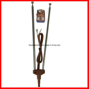 Telescopic Antenna, UHF VHF Indoor TV V Shape Rod Antenna pictures & photos