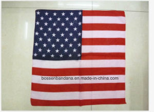 OEM Produce Customized Flag Printed Cotton Big Handkerchief pictures & photos