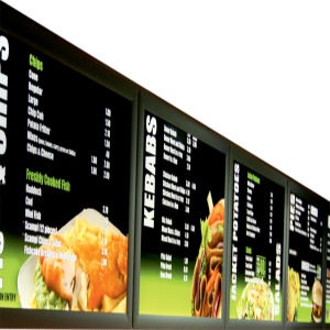 New LED Menu Board Menu Light Box Restaurant Light Box Signs Menu Board pictures & photos