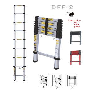 Dff-2 3 Step Aluminum Telescopic Portable Ladder En131 pictures & photos