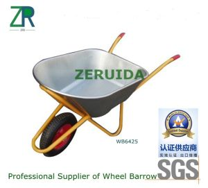 Twin Wheel and Foam Grip Handle Wheelbarrow pictures & photos